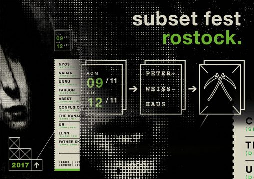Subset Fest, Rostock (Flyer-Collage)