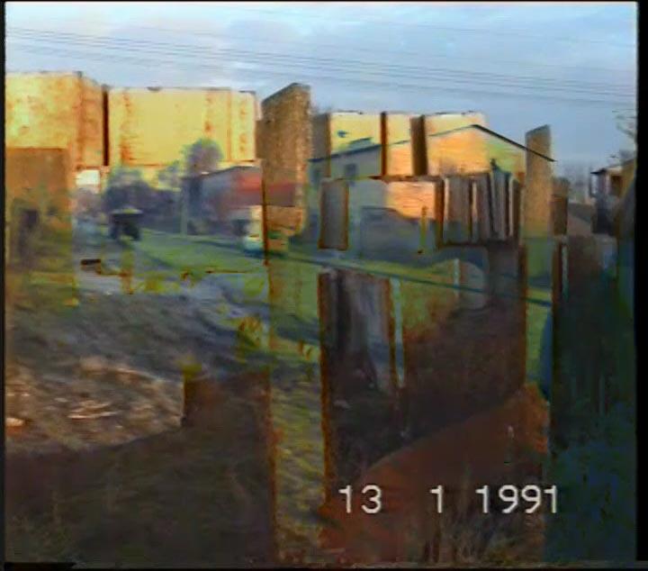 Videostills aus dem Videomaterial für die Visuals von The Kanadagans bei Meuterland (Quelle: privat)