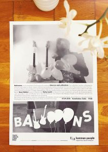 Huey Walker - Ballooons (Poster zur Kulturnacht 2018)